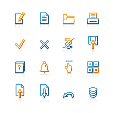 contour notebook icons on the white background Stock Vector - 4525469