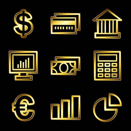 calc: Gold luxury finance web icons V2