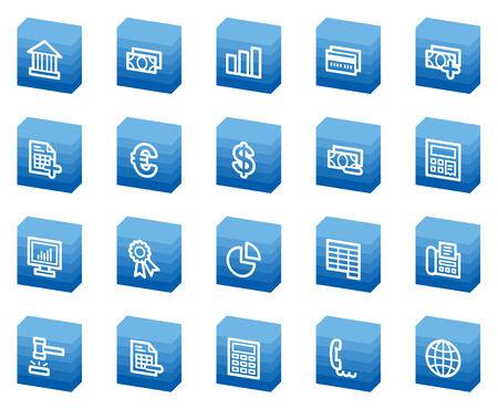 Banking web icons, blue box series Vector