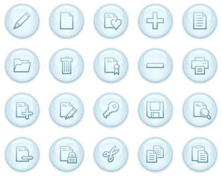 Document web icons, light blue circle buttons series Stock Vector - 4685239