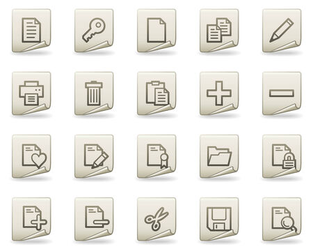 Document web icons, document series Vector
