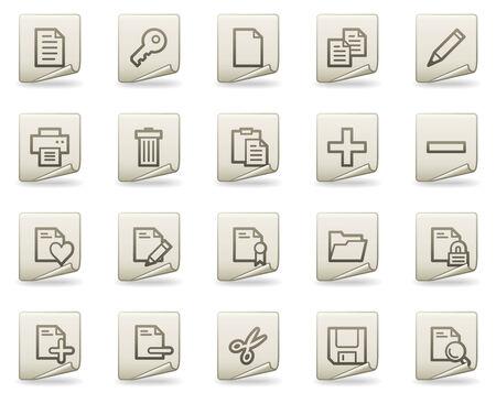 Documento web de iconos, serie de documentos Ilustración de vector
