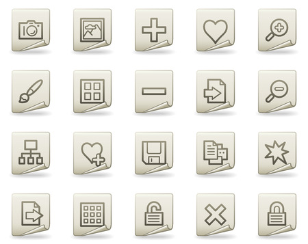 Image library web icons, document series Vector