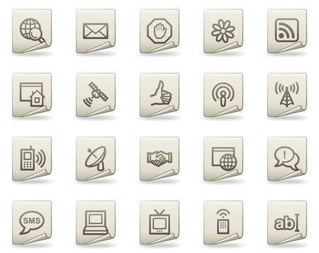 Internet web icons, document series Vector