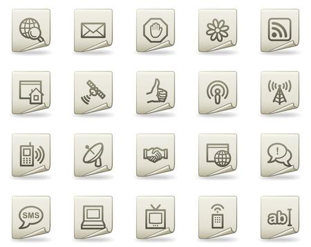 Internet web icons, document series Illustration