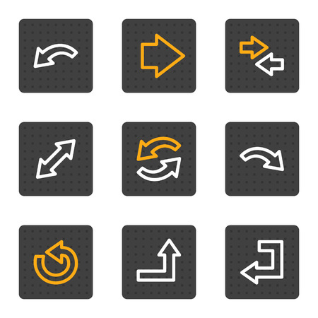 Arrows web icons, grey buttons series Vector