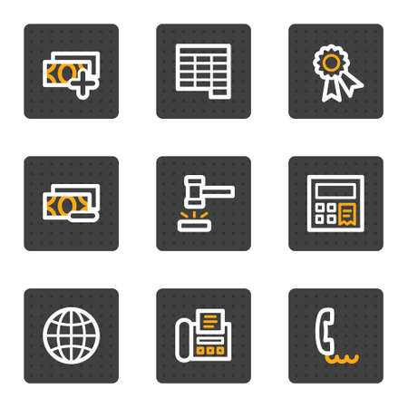 Finance web icons set 2, grey buttons series Vector