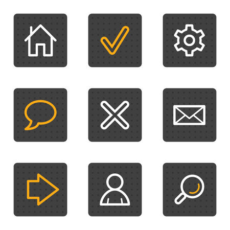 Basic web icons, grey buttons series Vector