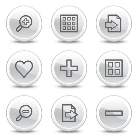 Image viewer web icons, white glossy circle buttons series Stock Vector - 4852969