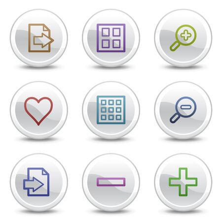 favoritos: Iconos Web Visor de im�genes en color, blanco botones c�rculo serie de