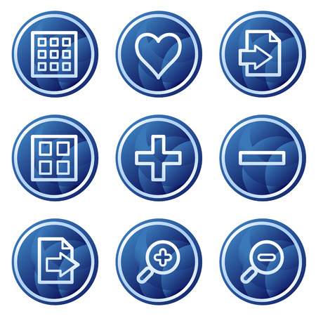 Image viewer web icons, blue circle buttons series Stock Vector - 5295972