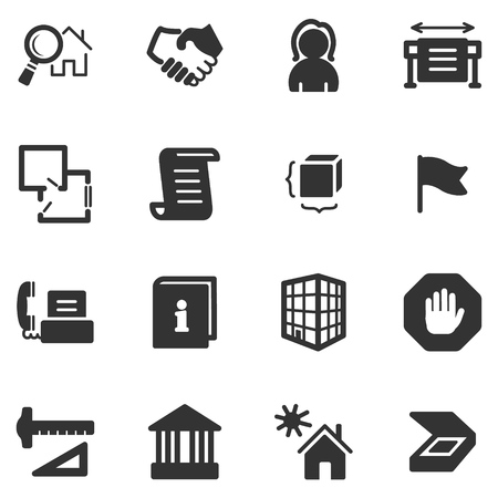 black icons: Building black web icons Illustration