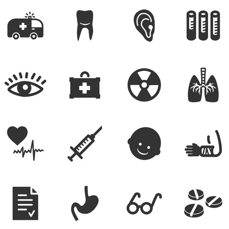 Medicine black web icons Vector