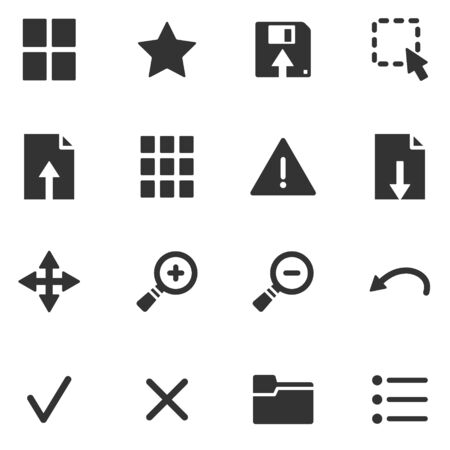 moving site: Viewer black web icons