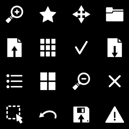 Viewer white web icons Vector