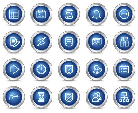 databank: Data base web icons, blauwe cirkel knoppen serie