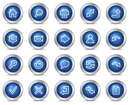 Basic web icons, blue circle buttons series Illustration