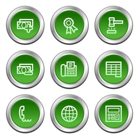 web 2: Finance web icons set 2, green circle buttons series