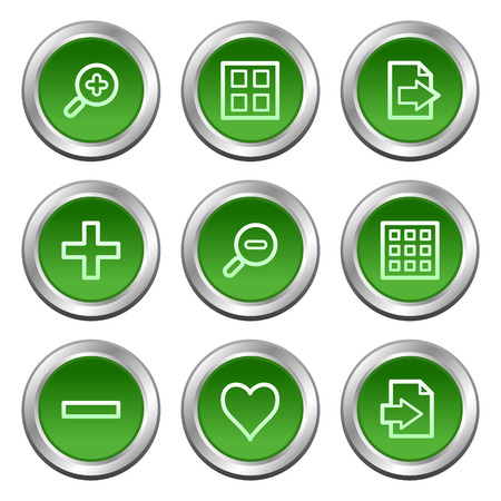 Image viewer web icons, green circle buttons series Stock Vector - 5657072