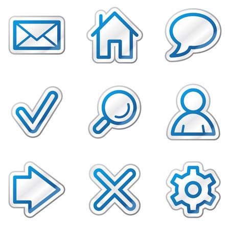 preferences: Basic web icons, blue contour sticker series Illustration