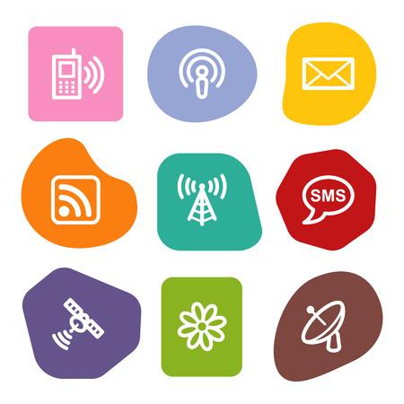 access point: Communication web icons, colour spots series Illustration