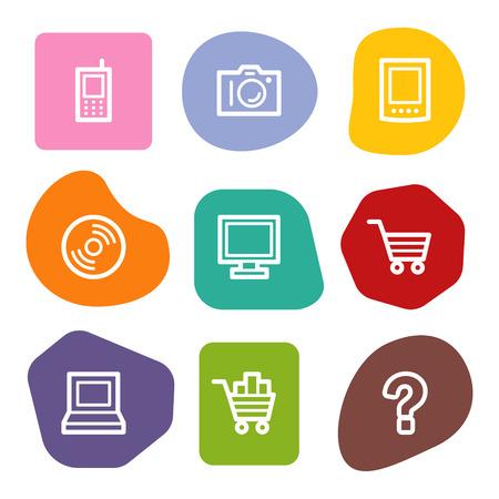 Electronics web icons, colour spots series Vector
