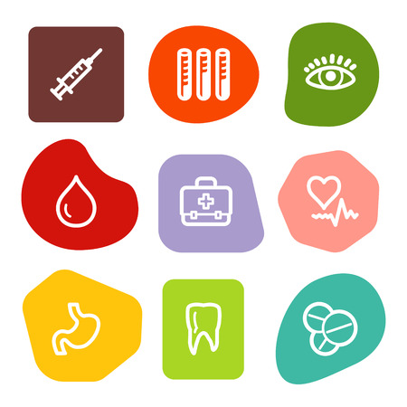 squirt: Medicine web icons, colour spots series Illustration
