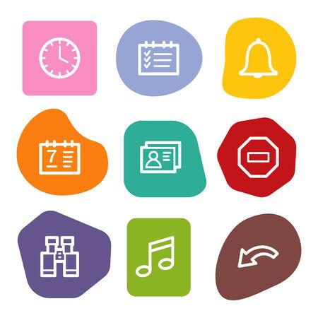 Organizer web icons, colour spots series Stock Vector - 6046778