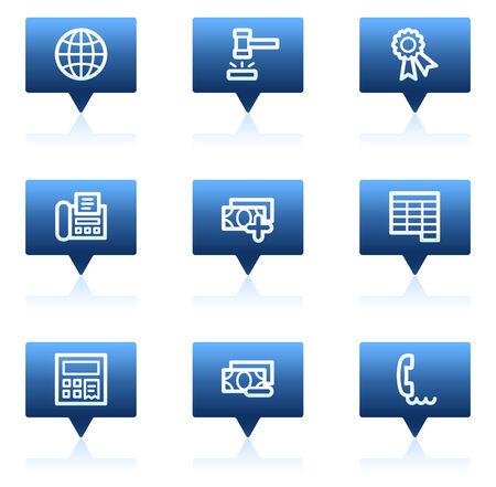 honorarios: Conjunto de iconos de web de finanzas 2, serie propaga discurso azul