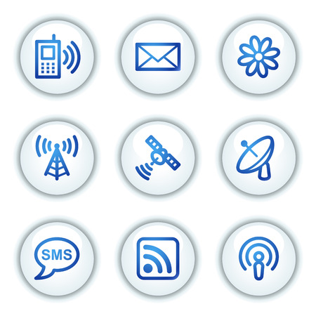 access point: Communication web icons, white circle buttons series