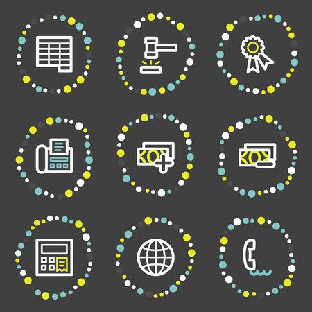 Finance web icons set 2, colour dots series Stock Vector - 6121933