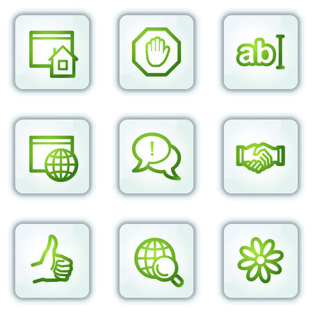 icq: Internet web icons, white square buttons series