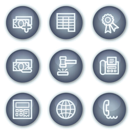 calc: Finance web icons set 2, mineral circle buttons series Illustration