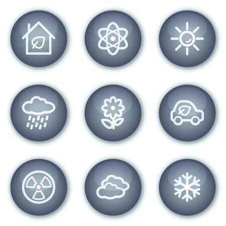 Ecology web icons set 2, mineral circle buttons series Stock Vector - 6240406