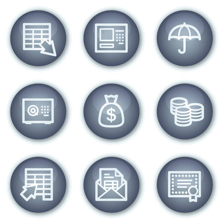 Banking web icons, mineral circle buttons series Vector