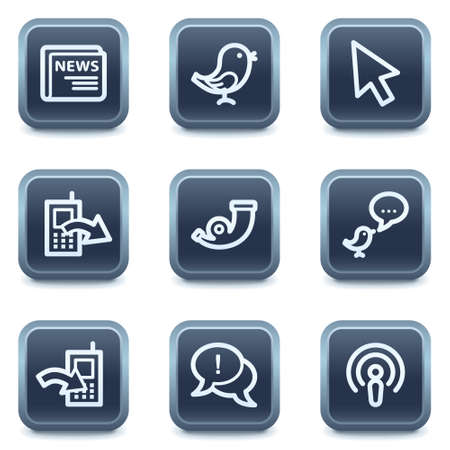 icons site search: Internet web icons set 2, mineral square buttons series Illustration