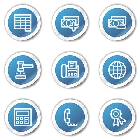 Finance web icons set 2, blue sticker series Stock Vector - 6416099