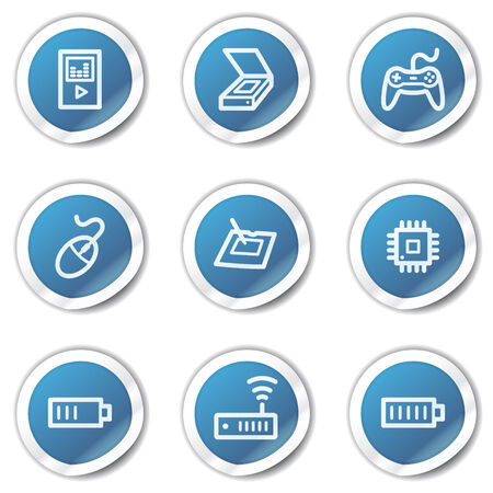 Electronics web icons set 2, blue sticker series Stock Vector - 6416093