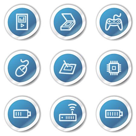 Electronics web icons set 2, blue sticker series Stock Vector - 6416093