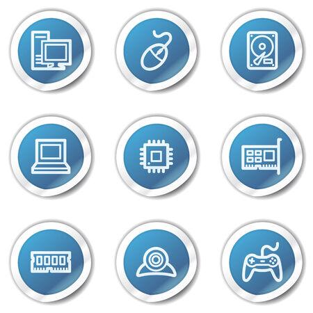 ddr: Computer web icons, blue sticker series Illustration
