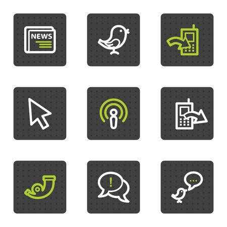 mobilhome: Ic�nes web de Internet d�fini 2, carr� gris boutons s�rie  Illustration