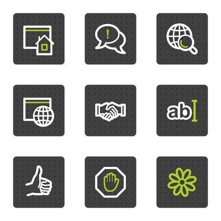 alianza: 1 De conjunto de iconos de la web de Internet, cuadrado gris botones de serie