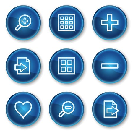 Image viewer web icons set 1, blue circle buttons Stock Vector - 6564892