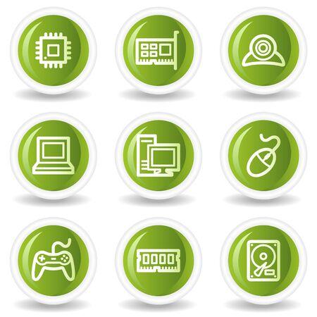webcamera: Computer web icons, green circle buttons