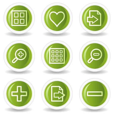 Image viewer web icons set 1, green circle buttons Stock Vector - 6685517