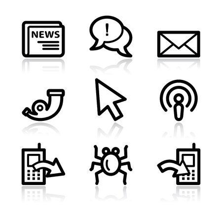 web 2: Black contour internet set 2 web icons V2