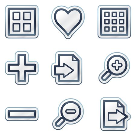 thumbnails: Image viewer web icons set 1, deep blue contour sticker series
