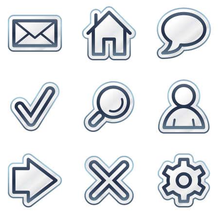 Basic web icons, deep blue contour sticker series Illustration