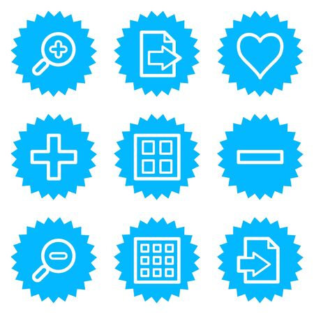 Image viewer web icons set 1 , blue sticker series Stock Vector - 6872852