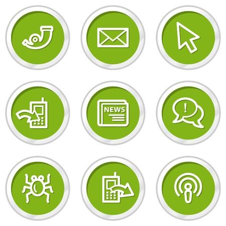 web 2: Internet web icons set 2, green circle buttons